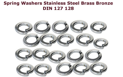 Spring Washers Din 127, Brass Spring washers, Bronze Spring washers,