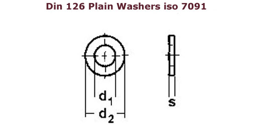 Din 126 washers , Brass washers DIn 126, Copper