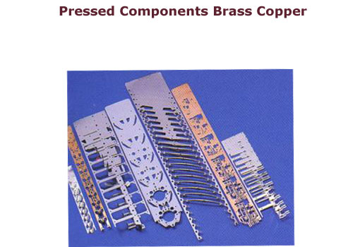 We are manufacturers of pressed components brass