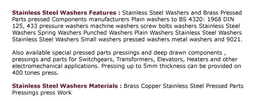 Stainless Steel Washers ,