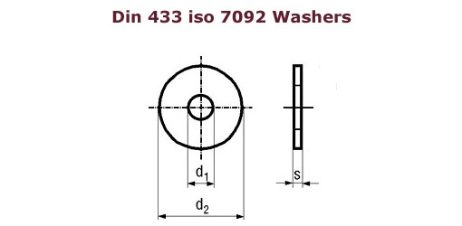Din 433 washers , Brass washers DIn 433, Copper 