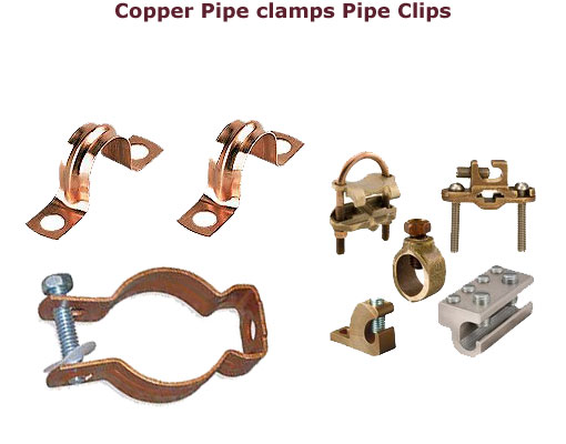 Copper pipe clamps pipe clips Copper clamps  Copper pipe clamps  Copper pipe clips  Bronze pipe clamps 