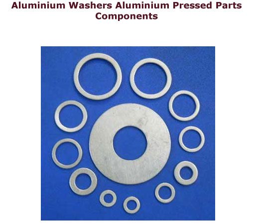 Aluminium pressed parts Aluminium washers Aluminium parts components