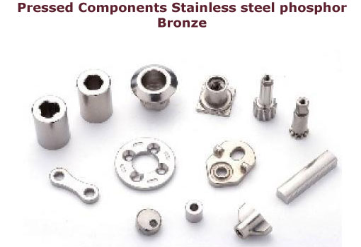 Bronze pressed components stainless