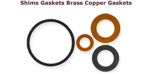 Copper Shims Copper shim washers Brass Shims Brass Shim washers Copper Gaskets Brass Gaskets