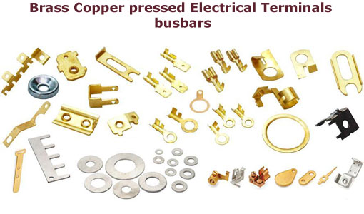 Electrical parts  Brass parts  Brass electrical parts Brass electrical connectors Brass electrical components copper electrical connectors Brass connectors copper connectors Brass Terminals   fuse holders Brass electrical contacts  Copper cable connectors shims gaskets brass copper